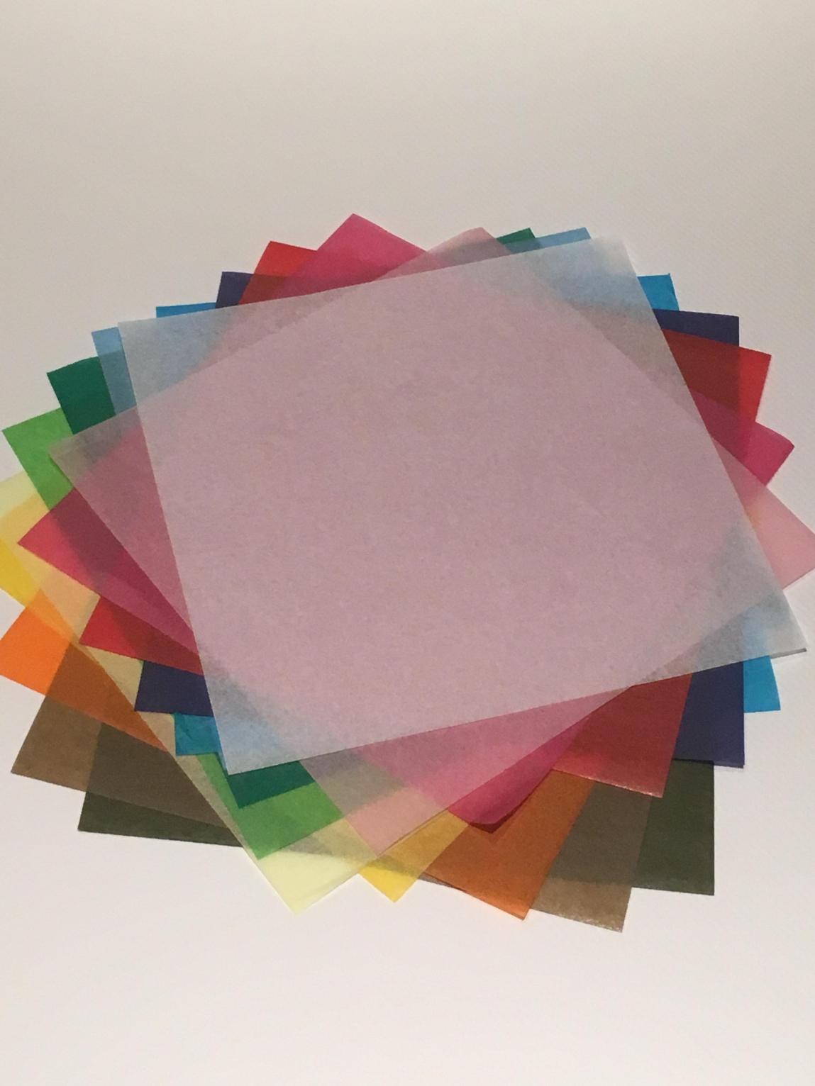 極薄の紙 『tカラぺ+5リーフ』 正方形にしたセットを販売しております。