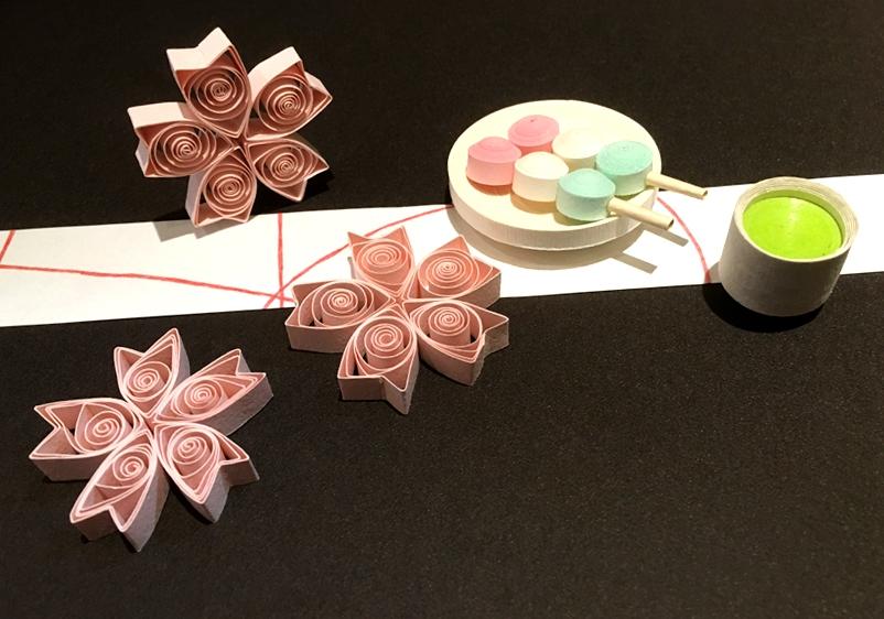 ペーパークイリング「花見だんごセット」 オリジナルキットを販売しております☆