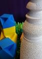 ぶつぶつの陶器は花器にもなります