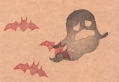 ハロウィン「オバケとコウモリ」