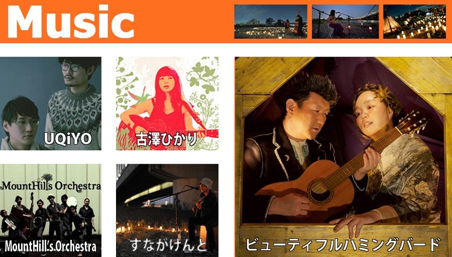 トップページの音楽アーティストの紹介2