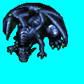 巨大ドラゴン青