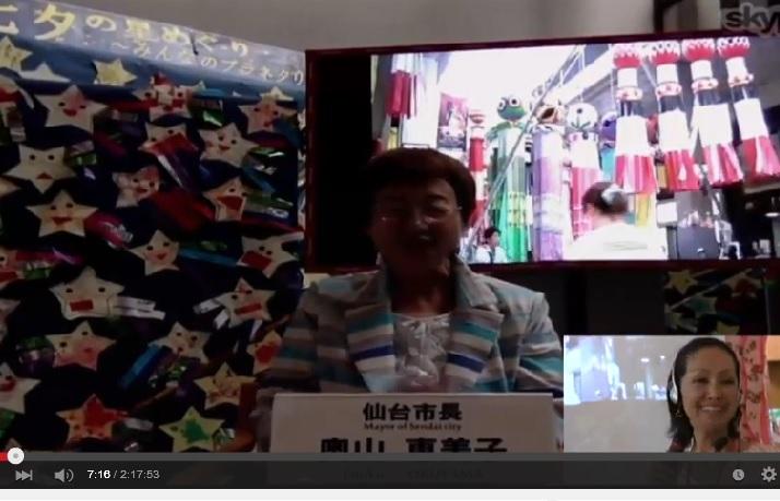 電脳七夕2015・仙台市長
