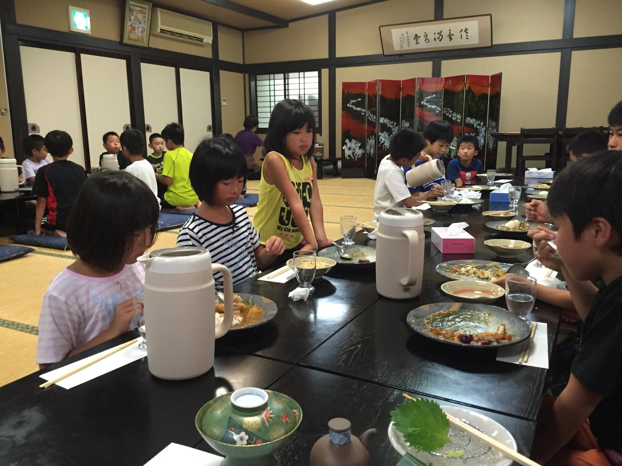 平成28年度夏合宿夕飯