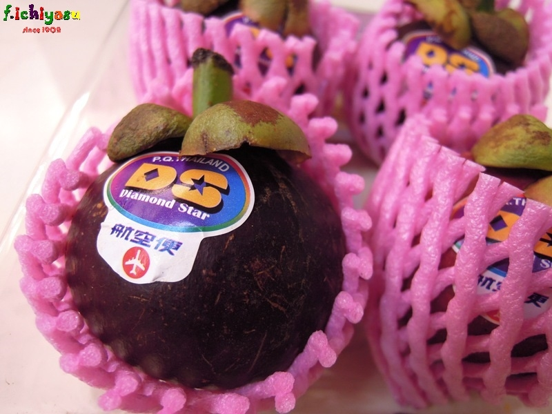 タイ産の「マンゴスチン」入荷しました (^^♪ Today's Fruits ♪