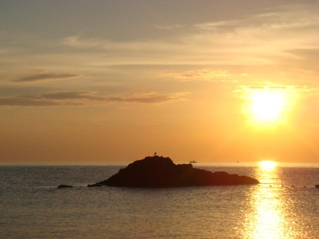 越前の夕日