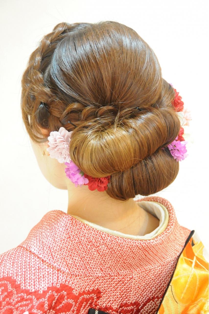 成人式の振袖着付けとヘアアレンジ