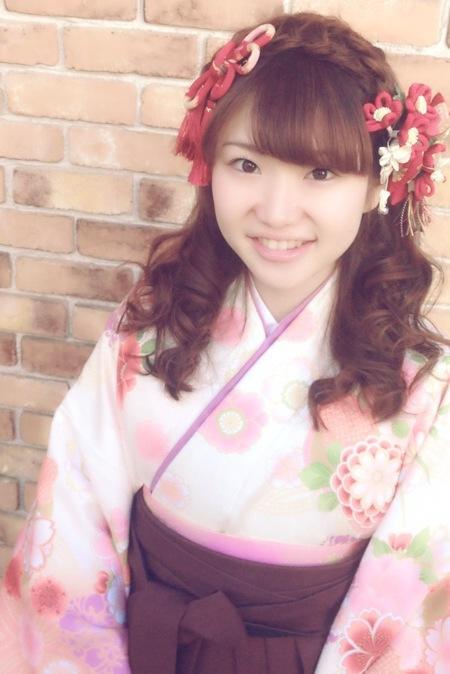 卒業式のヘアアレンジと袴着付け