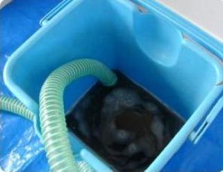 エアコン洗浄の排水