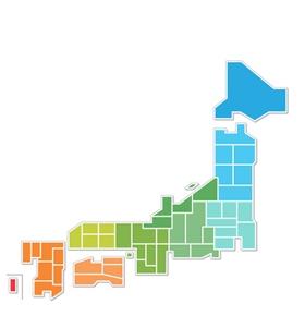 電子ピアノ査定対象地域の地図