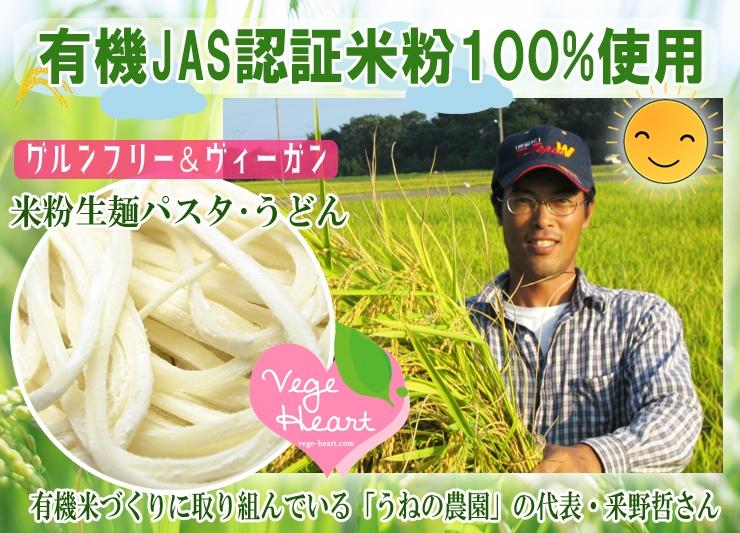 有機JAS認証米粉100%使用米粉パスタうどん グルテンフリー