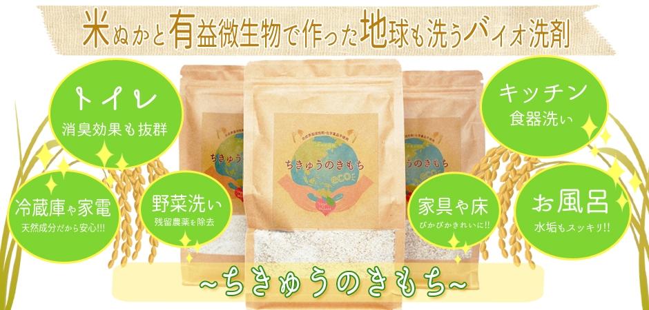 米ぬか洗剤 界面活性剤不使用 ちきゅうのきもち