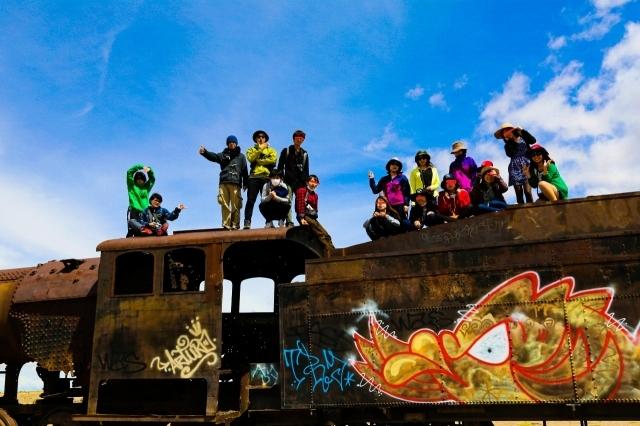 列車の墓場 ウユニ ボリビア