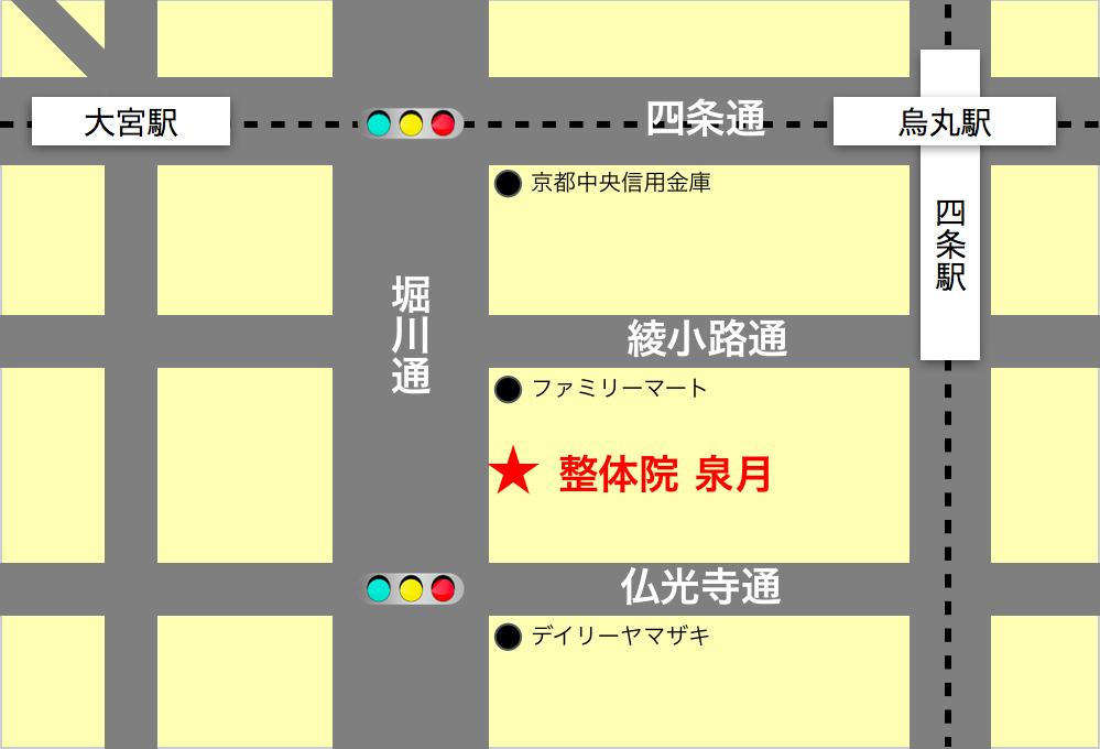 グラシィオ四条堀川地図